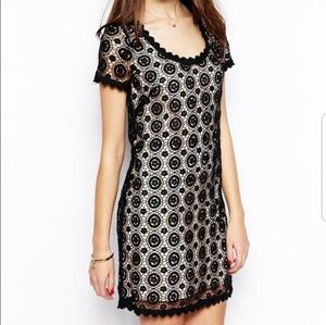 French Connection Crochet Lace Dress